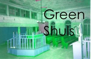 Green synagogue interior