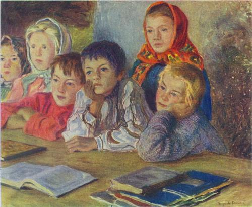 Nikolay Bogdanov-Belsky, Children in a Class