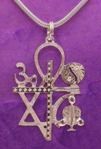 Silver Interfaith Necklace